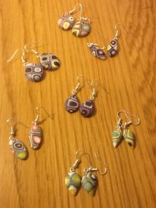 Assorted Klimt earrings