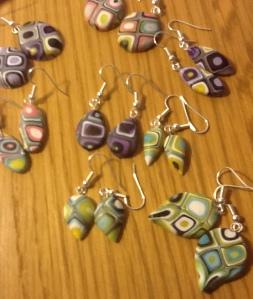 Klimt earrings
